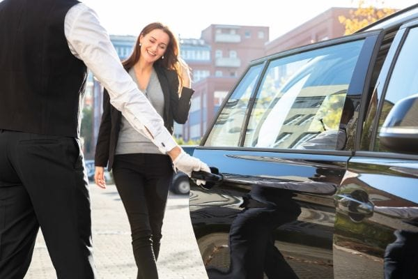 Businesswomen has chauffeur service in Vancouver