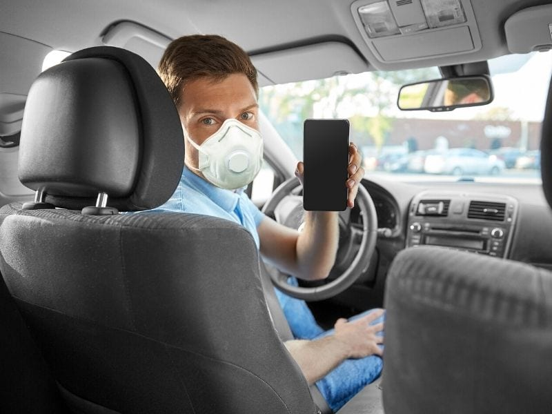 our designated driver will wear protective mask
